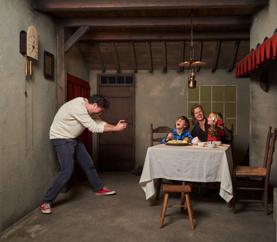 De aardappeleters hut voor families