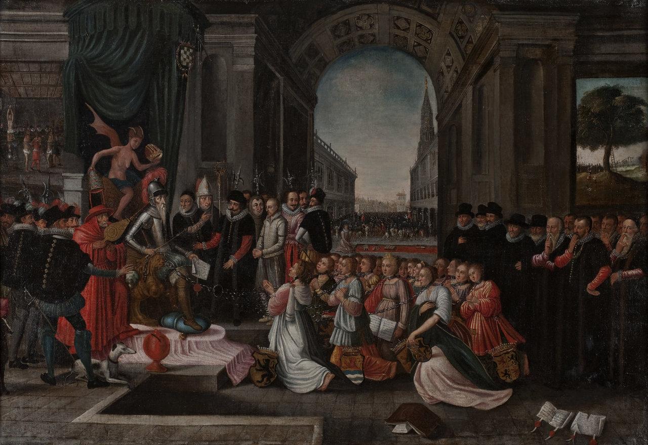 Schilderij De Ellendighe Staat der Nederlanden