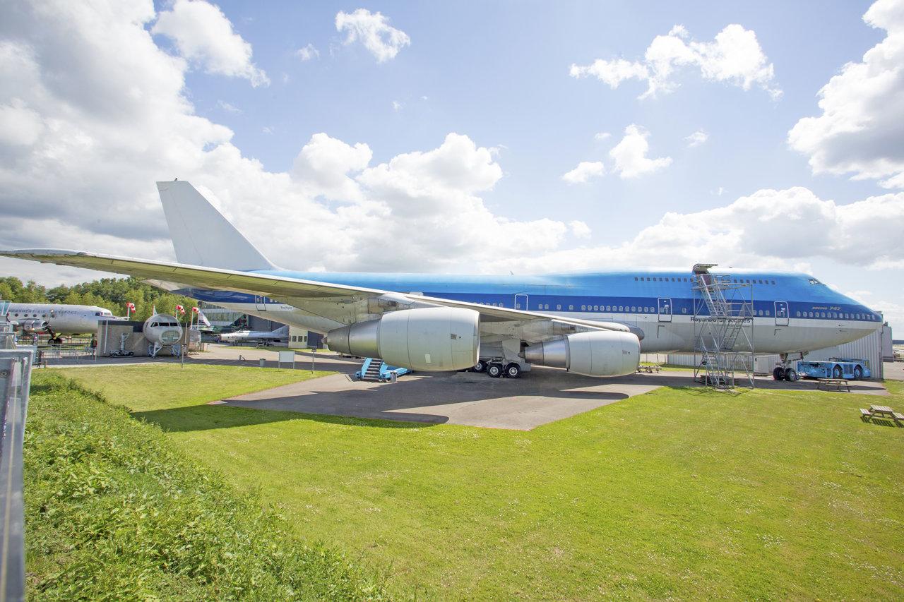 De Boing 747 in het Aviodrome