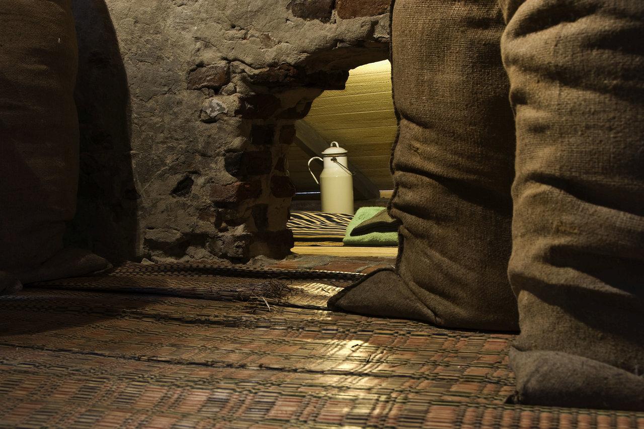 Foto van een onderduikruimte