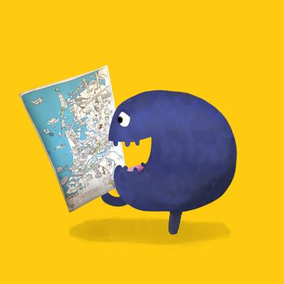 Tikkit de Museumkidsmascotte is op zoek naar een museum op de kaart van Nederland