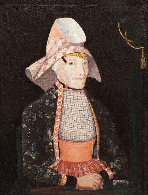 Portret van Meinke Willems geschilderd door Philippus van Drooge