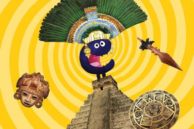 Tikkit de Museumkidsmascotte reist door de tijd - Azteken